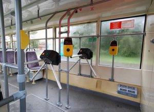 Оборудование местных автобусов современными турникетами