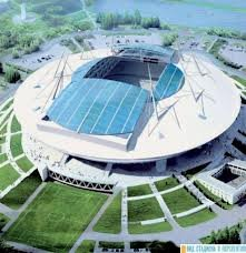 На новом стадионе в Петербурге закончилось возведение чаши