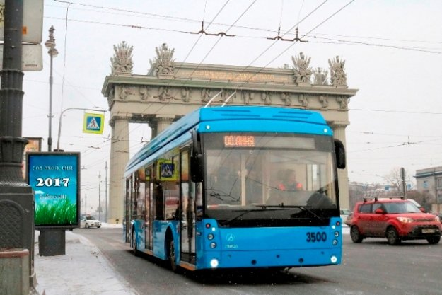 В Петербург доставят более ста троллейбусов из Энгельса